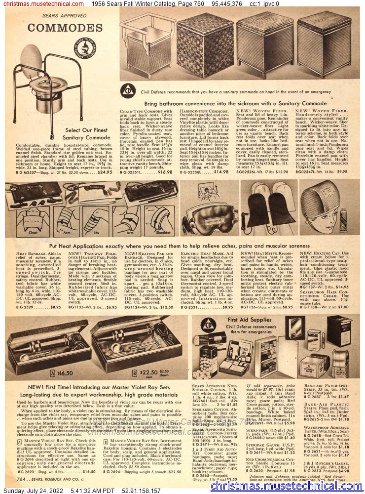 1956 Sears Fall Winter Catalog, Page 760