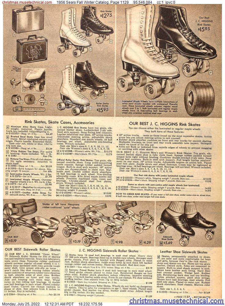 1956 Sears Fall Winter Catalog, Page 1129