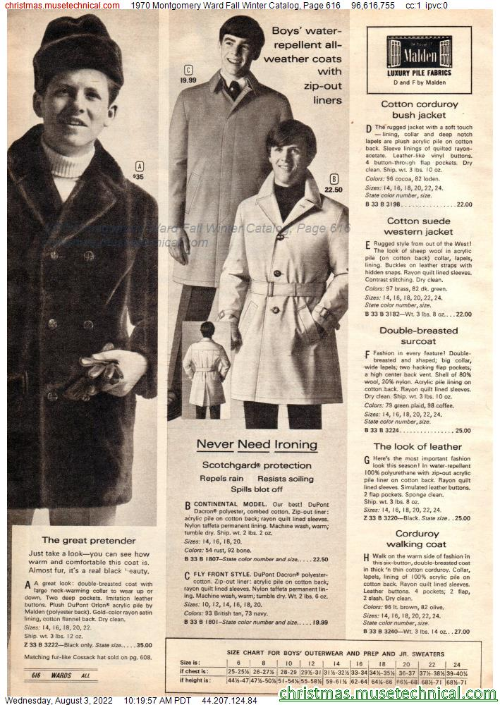 1970 Montgomery Ward Fall Winter Catalog, Page 616