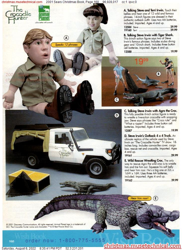 2001 Sears Christmas Book, Page 168