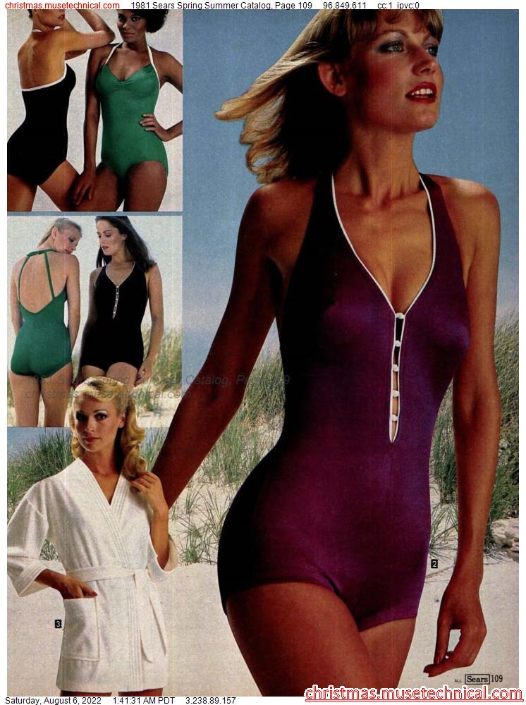 1981 Sears Spring Summer Catalog, Page 109