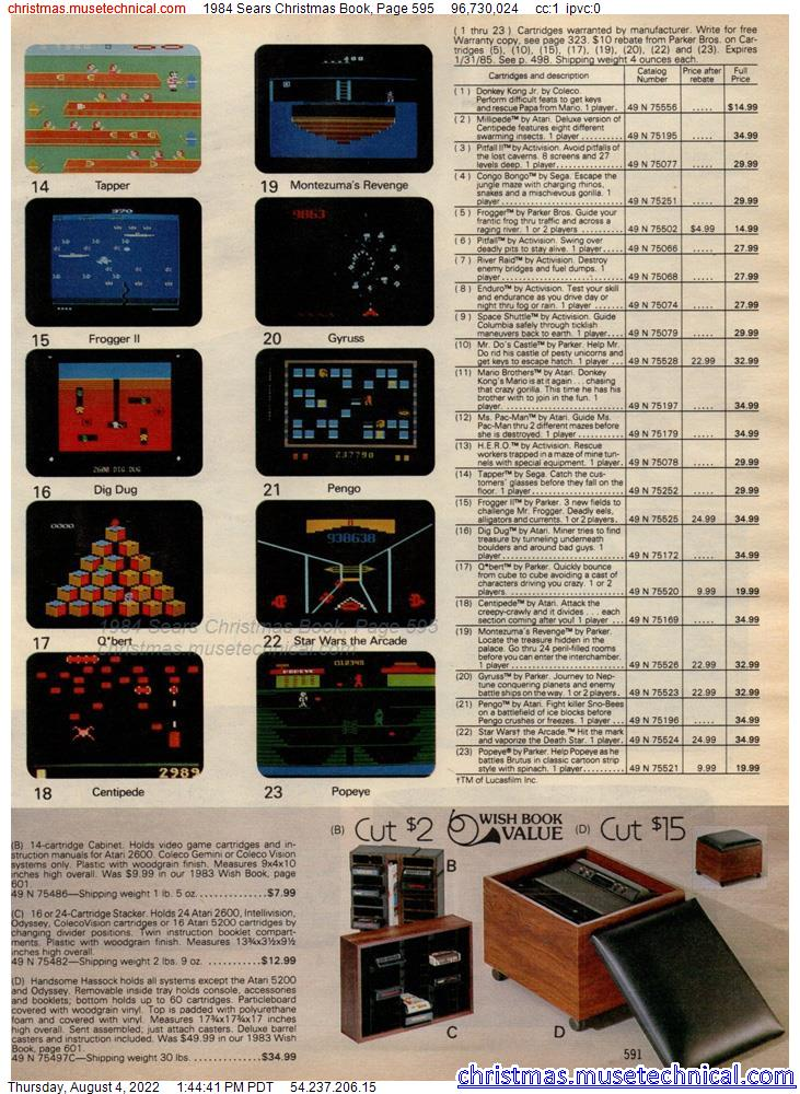 1984 Sears Christmas Book, Page 595