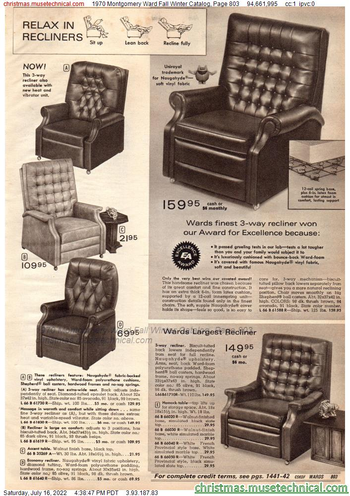 1970 Montgomery Ward Fall Winter Catalog, Page 803