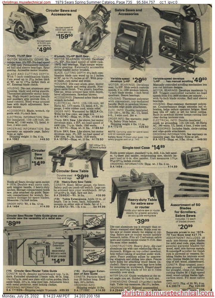 1979 Sears Spring Summer Catalog, Page 735