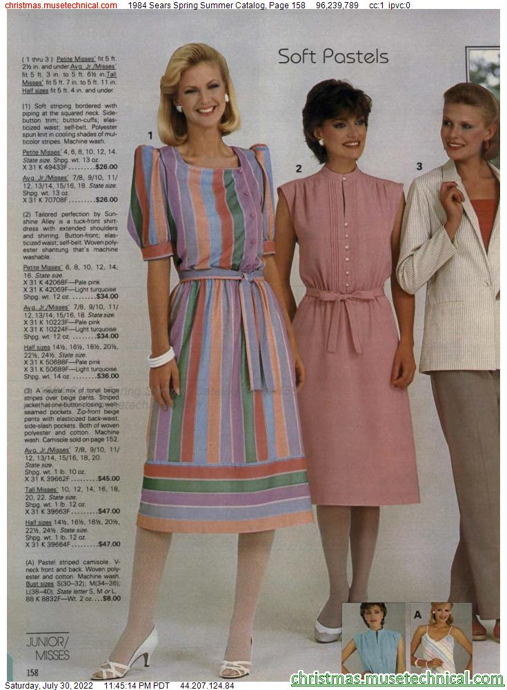 1984 Sears Spring Summer Catalog, Page 158