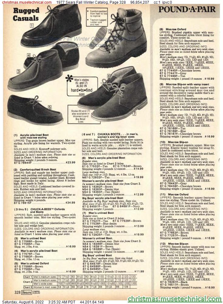 1977 Sears Fall Winter Catalog, Page 328