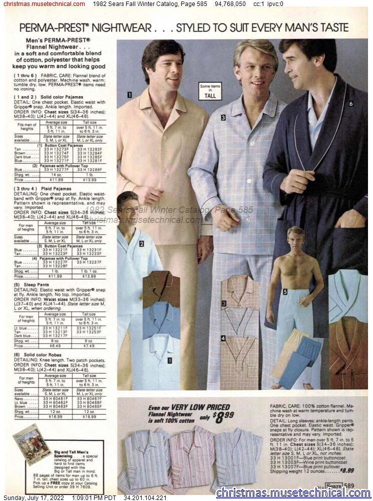 1982 Sears Fall Winter Catalog, Page 585