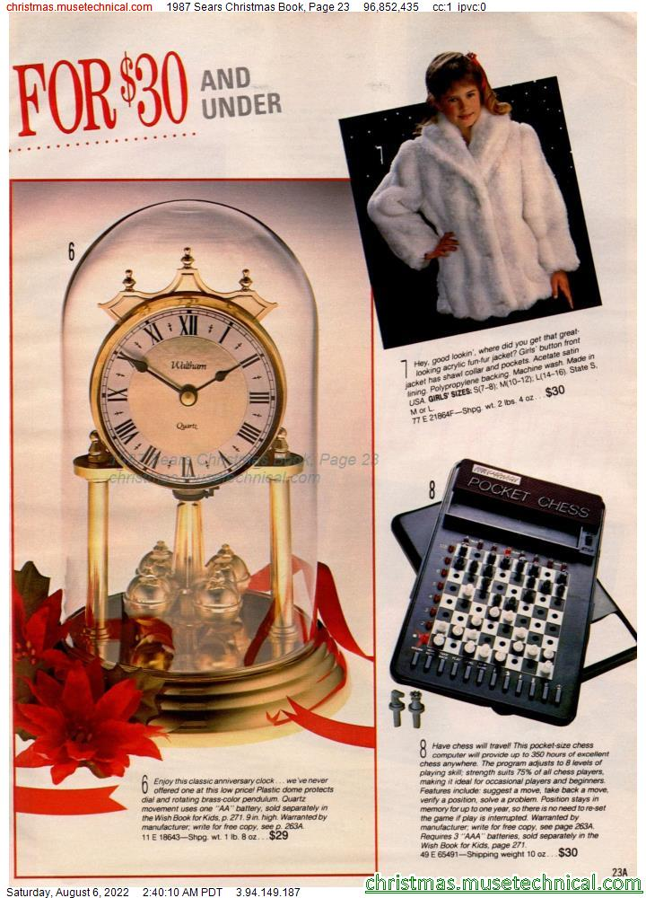 1987 Sears Christmas Book, Page 23