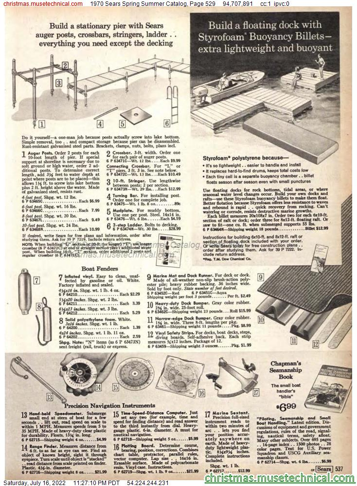 1970 Sears Spring Summer Catalog, Page 529