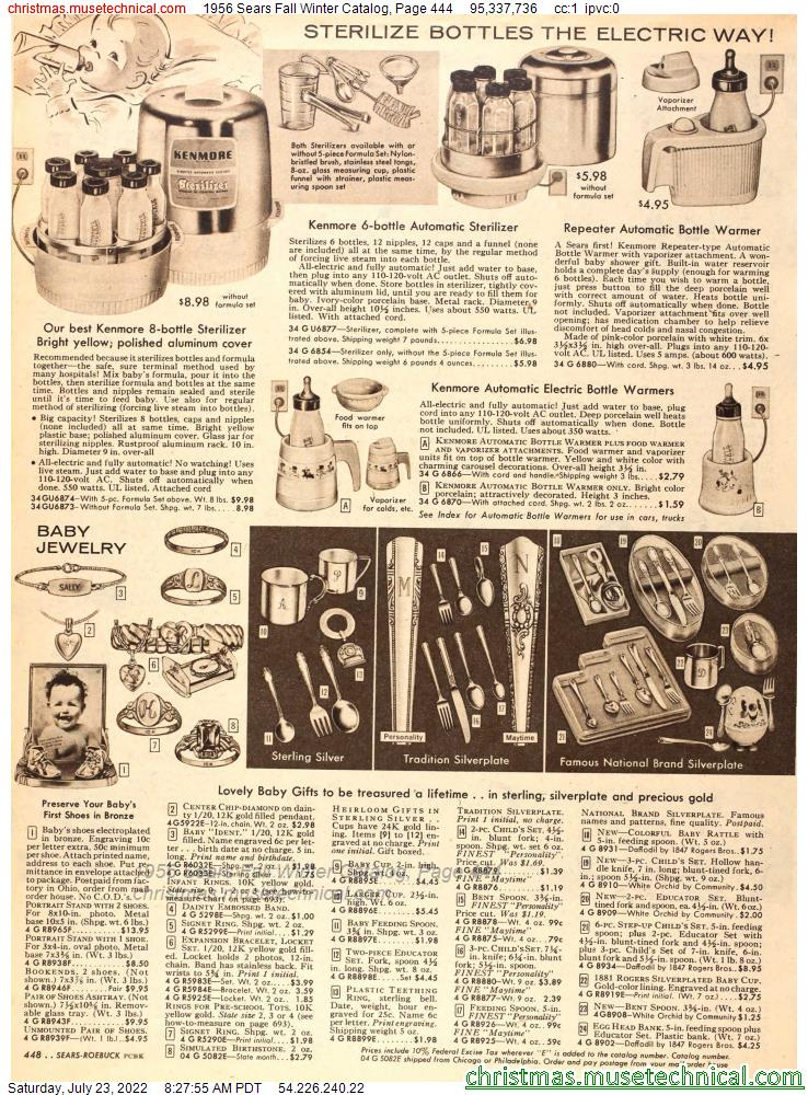 1956 Sears Fall Winter Catalog, Page 444