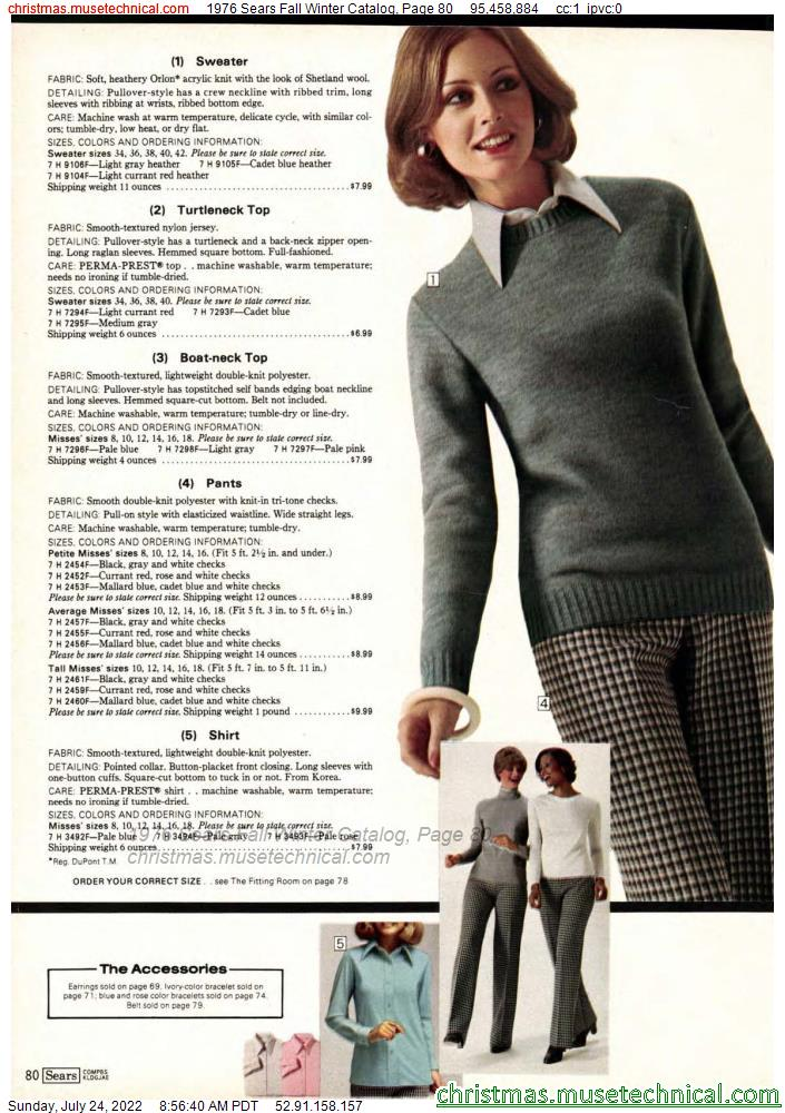 1976 Sears Fall Winter Catalog, Page 80