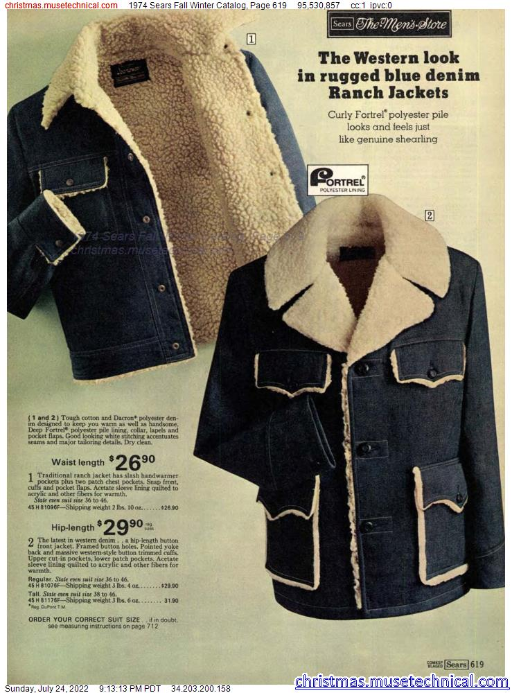 1974 Sears Fall Winter Catalog, Page 619