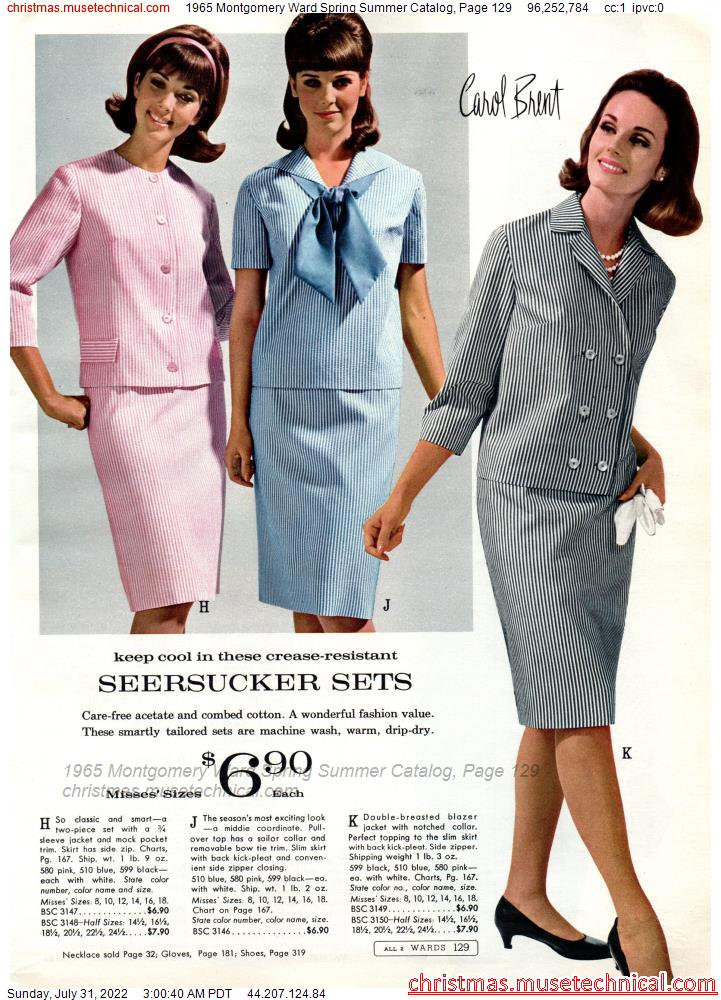 1965 Montgomery Ward Spring Summer Catalog, Page 129