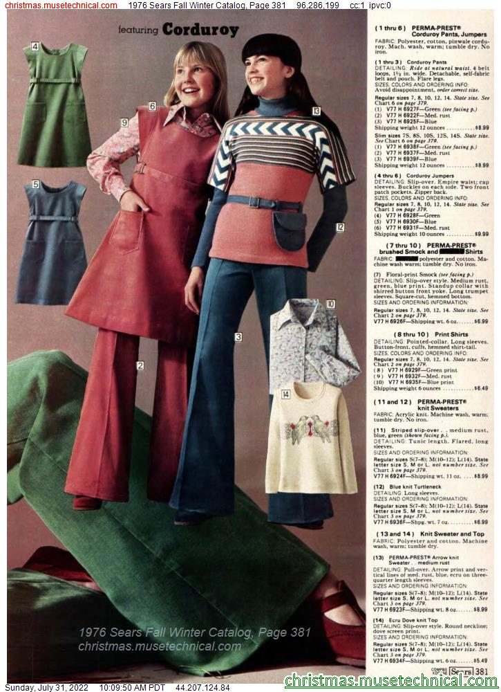 1976 Sears Fall Winter Catalog, Page 381