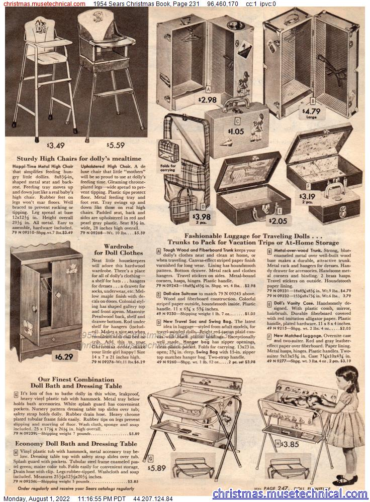1954 Sears Christmas Book, Page 231