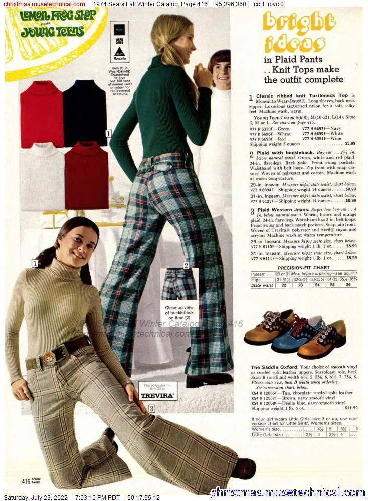 1974 Sears Fall Winter Catalog, Page 416