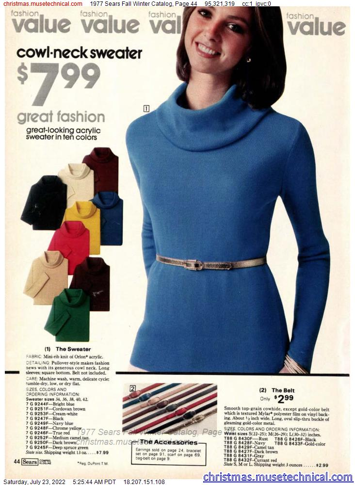 1977 Sears Fall Winter Catalog, Page 44