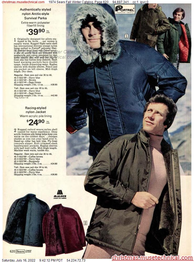 1974 Sears Fall Winter Catalog, Page 620