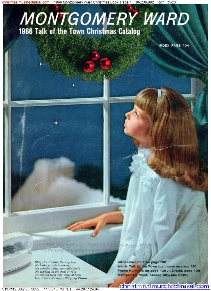1966 Montgomery Ward Christmas Book, Page 1