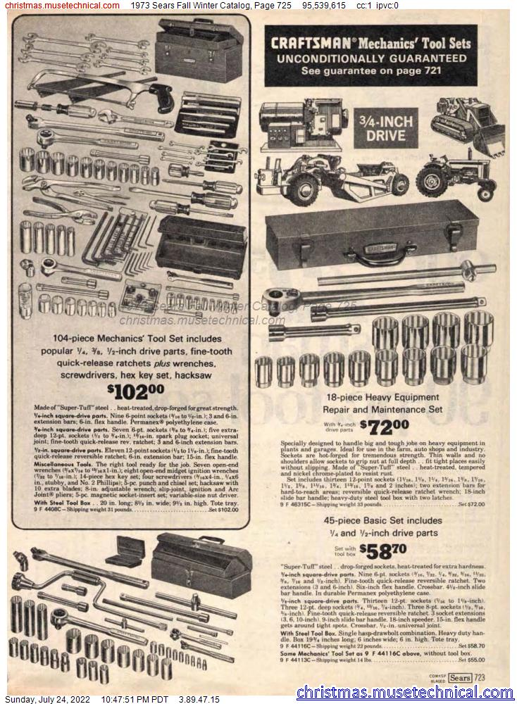 1973 Sears Fall Winter Catalog, Page 725