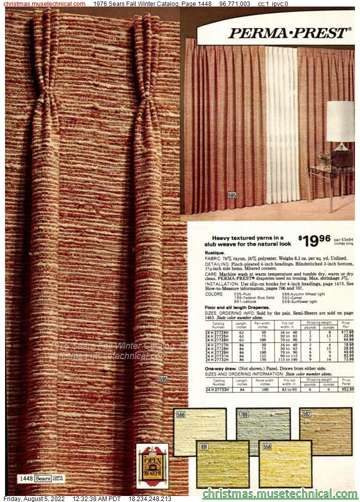 1976 Sears Fall Winter Catalog, Page 1448