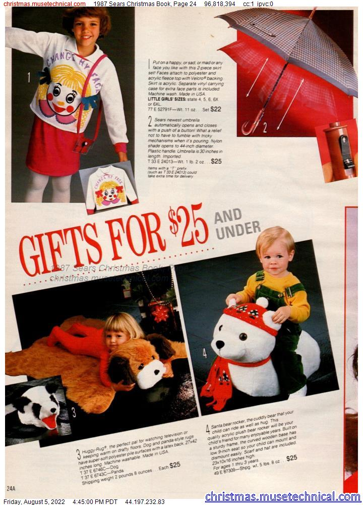 1987 Sears Christmas Book, Page 24