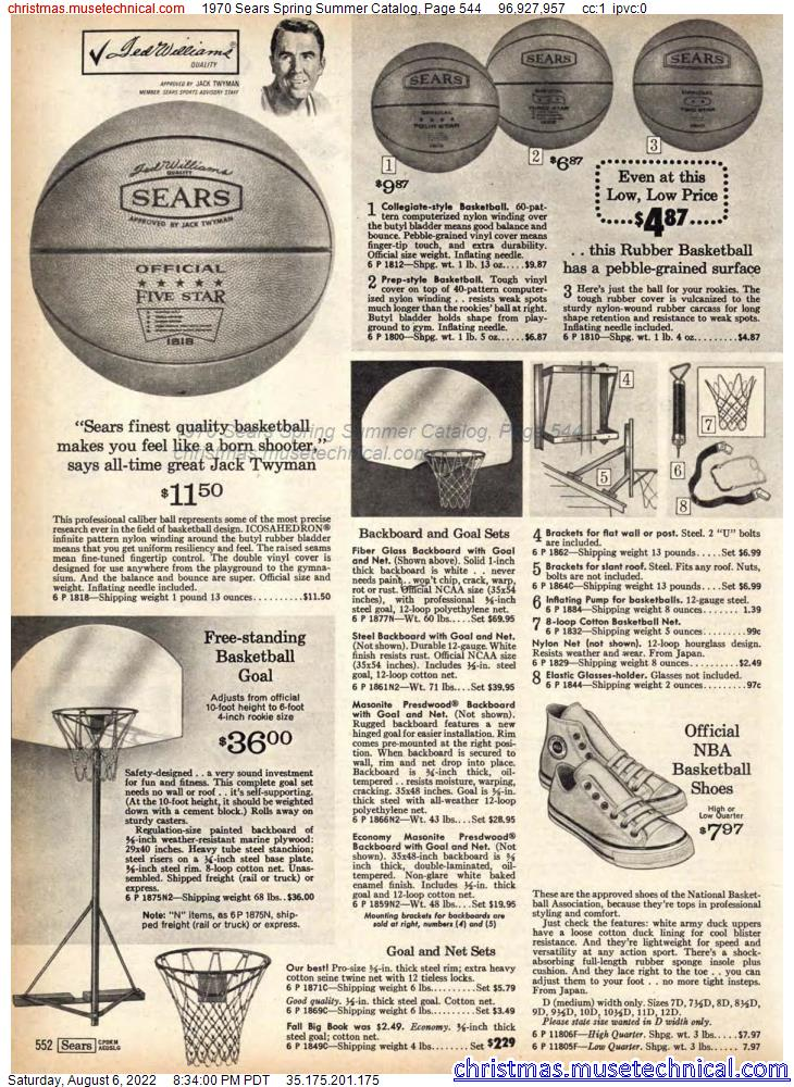 1970 Sears Spring Summer Catalog, Page 544