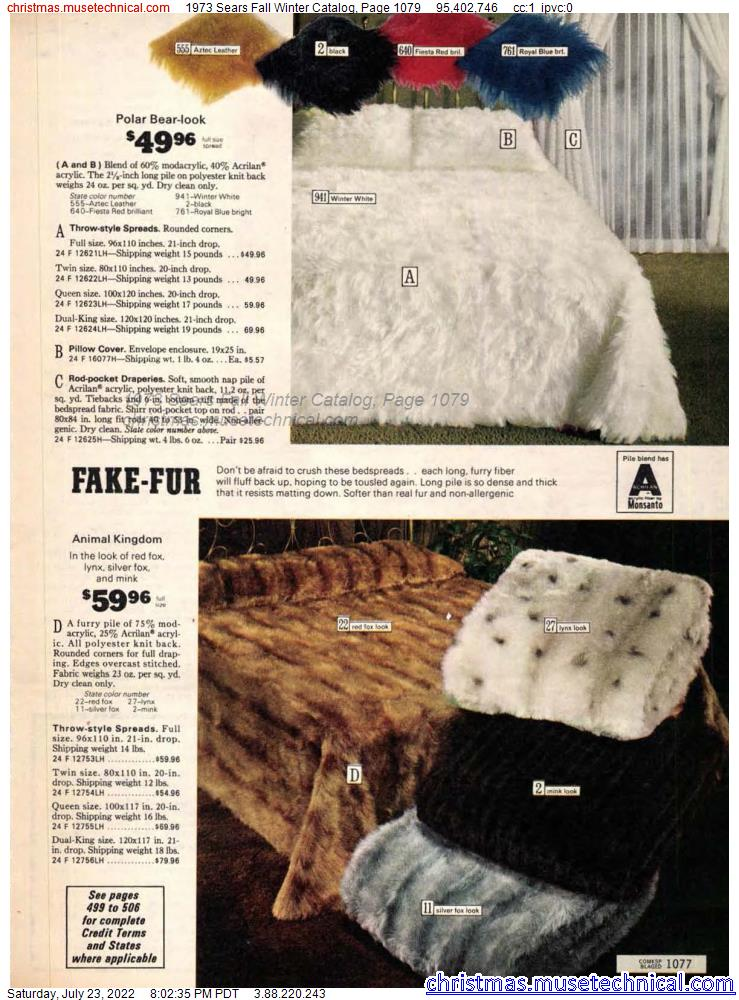 1973 Sears Fall Winter Catalog, Page 1079