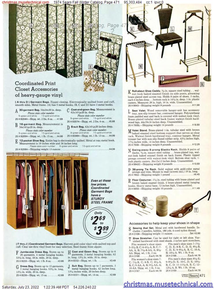 1974 Sears Fall Winter Catalog, Page 471
