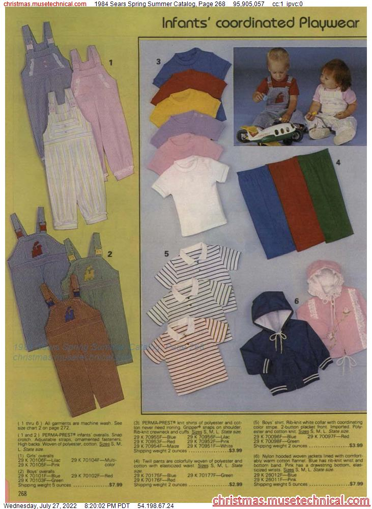 1984 Sears Spring Summer Catalog, Page 268