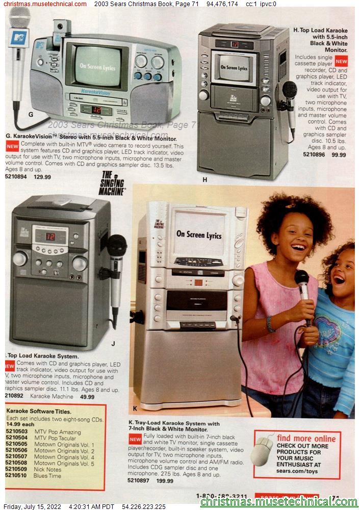 2003 Sears Christmas Book, Page 71