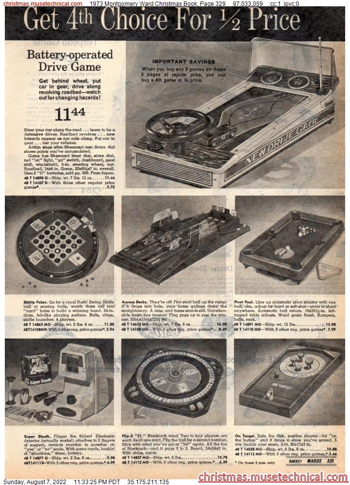 1973 Montgomery Ward Christmas Book, Page 329