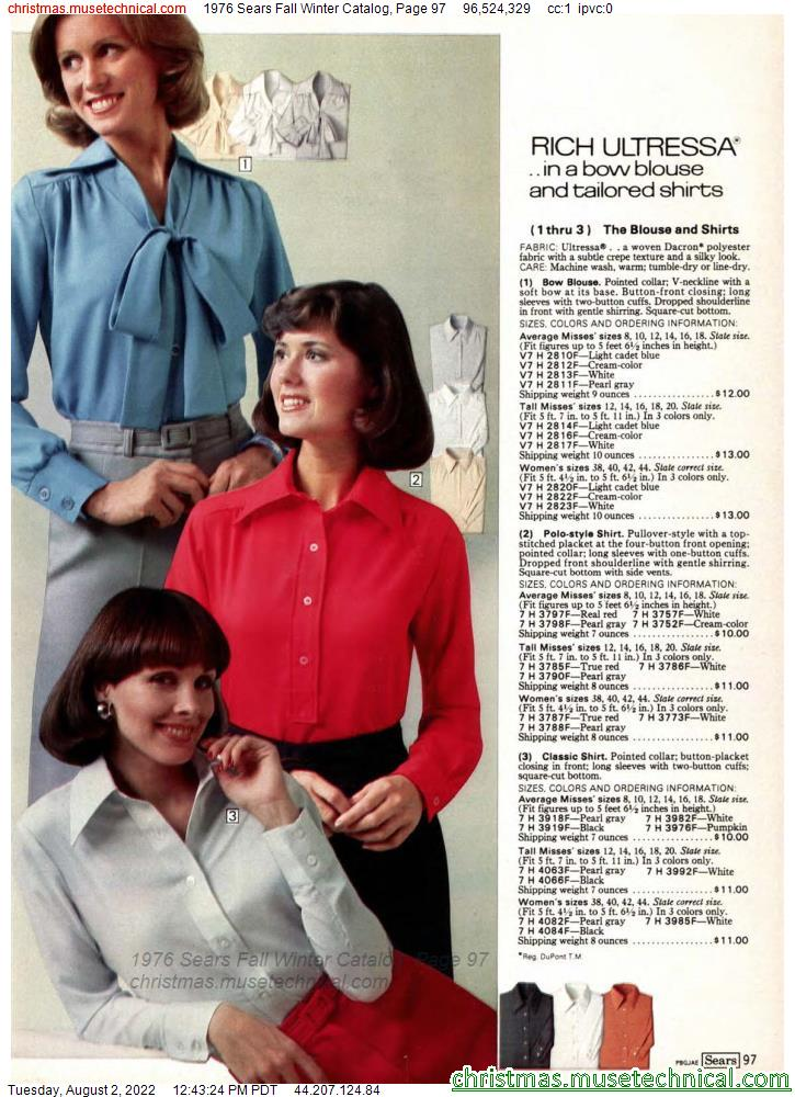 1976 Sears Fall Winter Catalog, Page 97