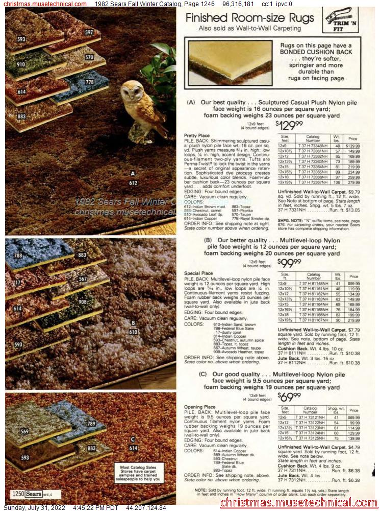1982 Sears Fall Winter Catalog, Page 1246