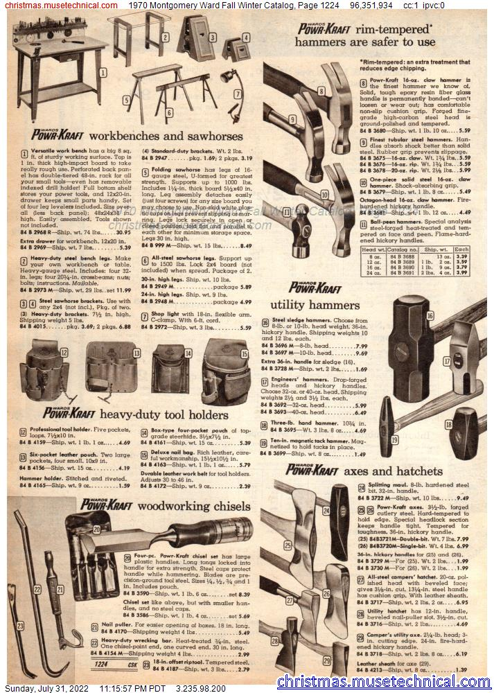 1970 Montgomery Ward Fall Winter Catalog, Page 1224