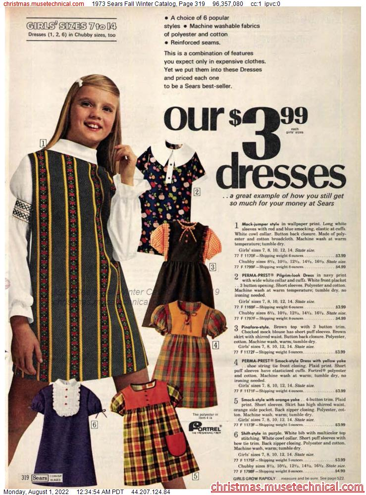 1973 Sears Fall Winter Catalog, Page 319