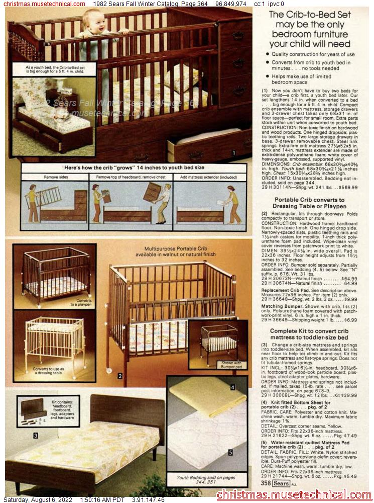 1982 Sears Fall Winter Catalog, Page 364