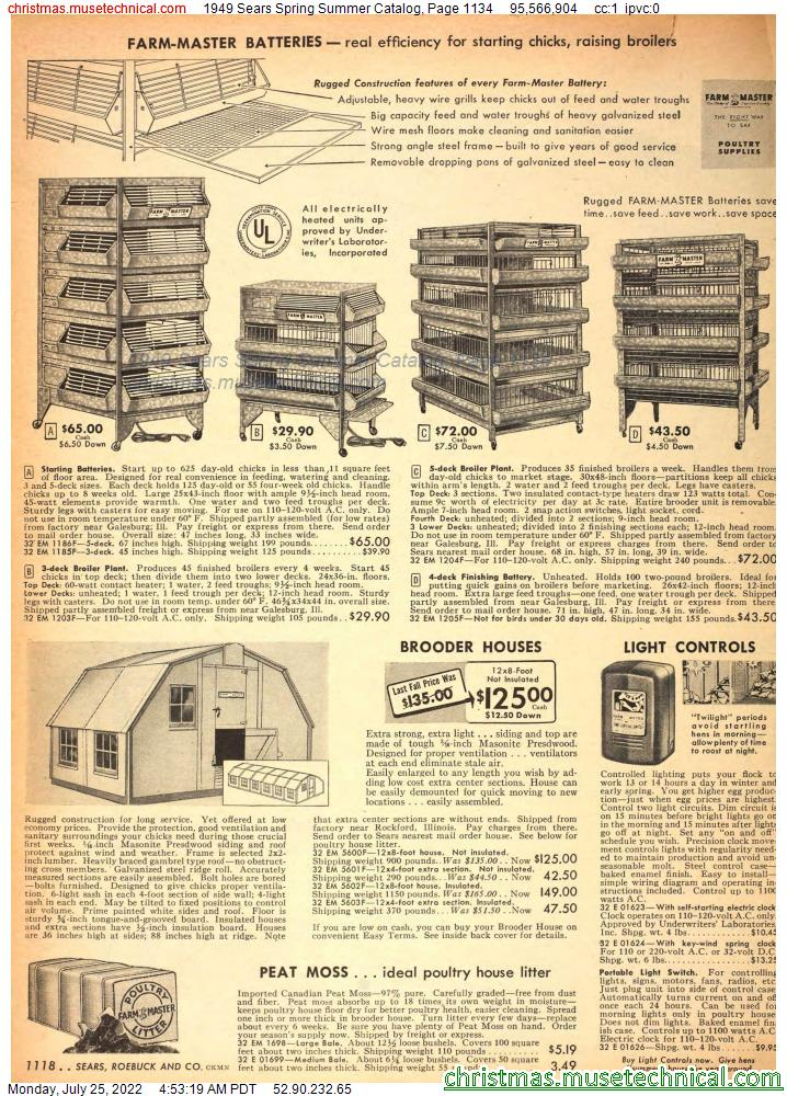 1949 Sears Spring Summer Catalog, Page 1134