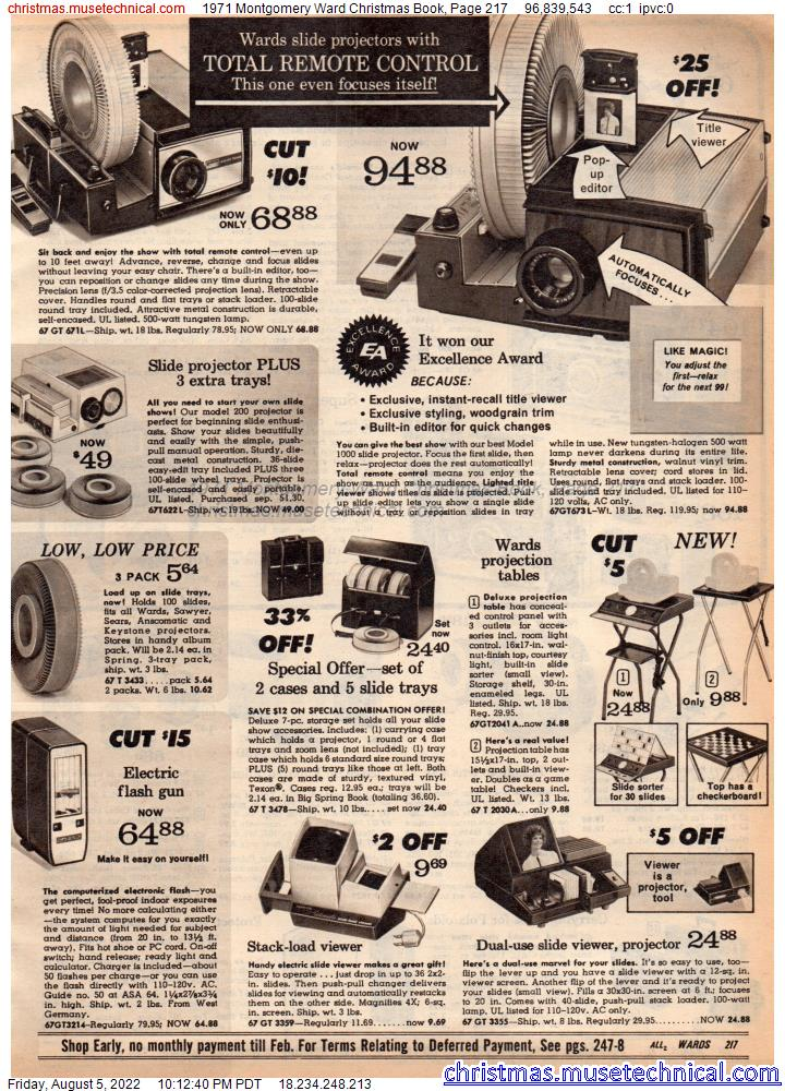 1971 Montgomery Ward Christmas Book, Page 217