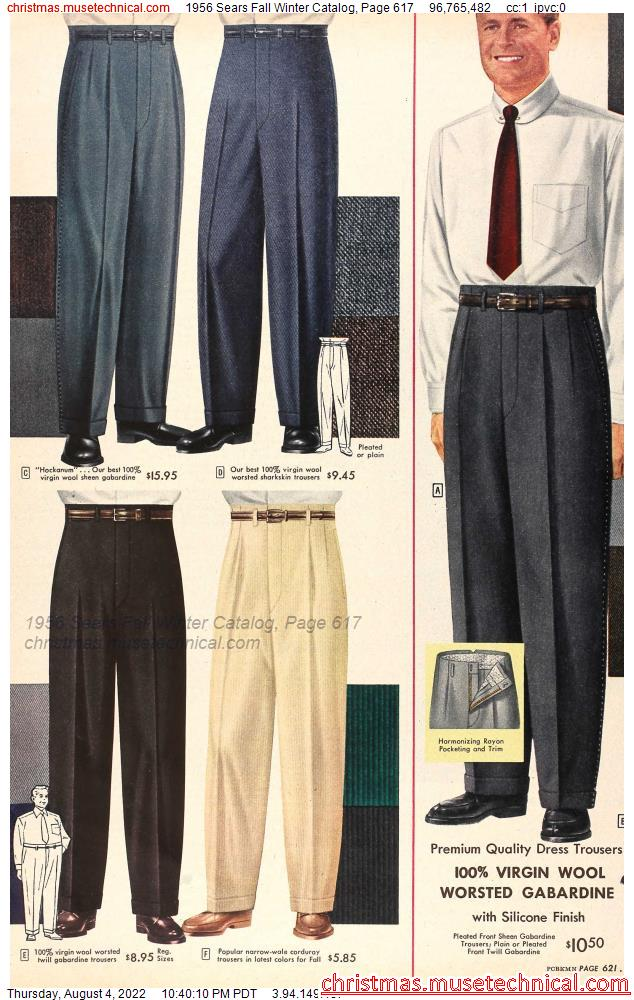 1956 Sears Fall Winter Catalog, Page 617