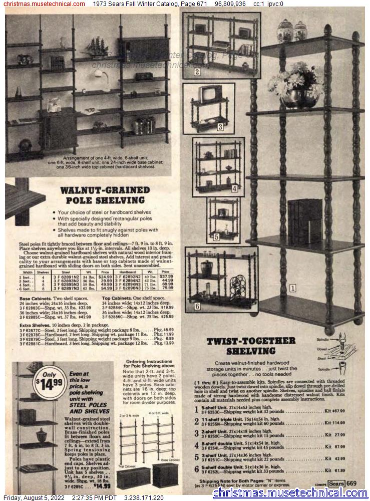 1973 Sears Fall Winter Catalog, Page 671