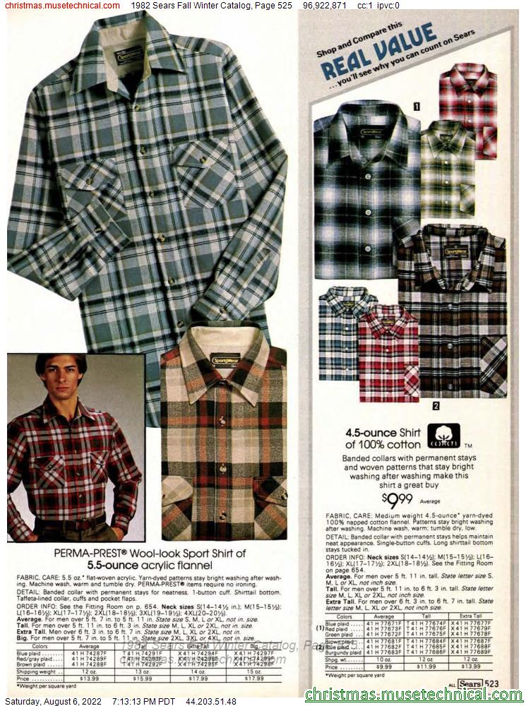 1982 Sears Fall Winter Catalog, Page 525