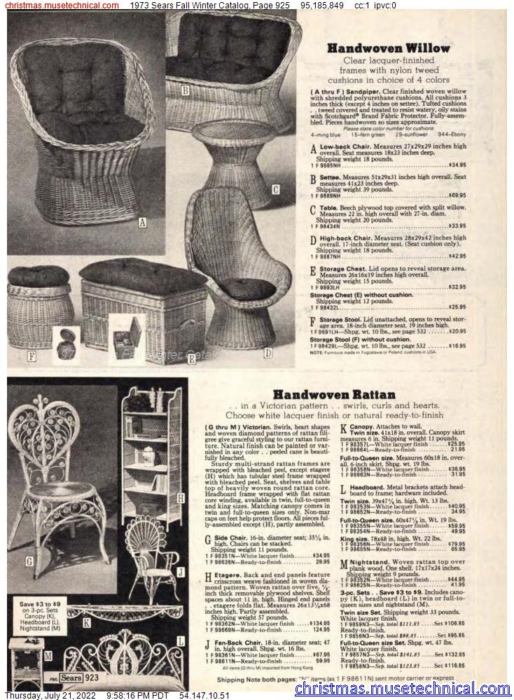 1973 Sears Fall Winter Catalog, Page 925