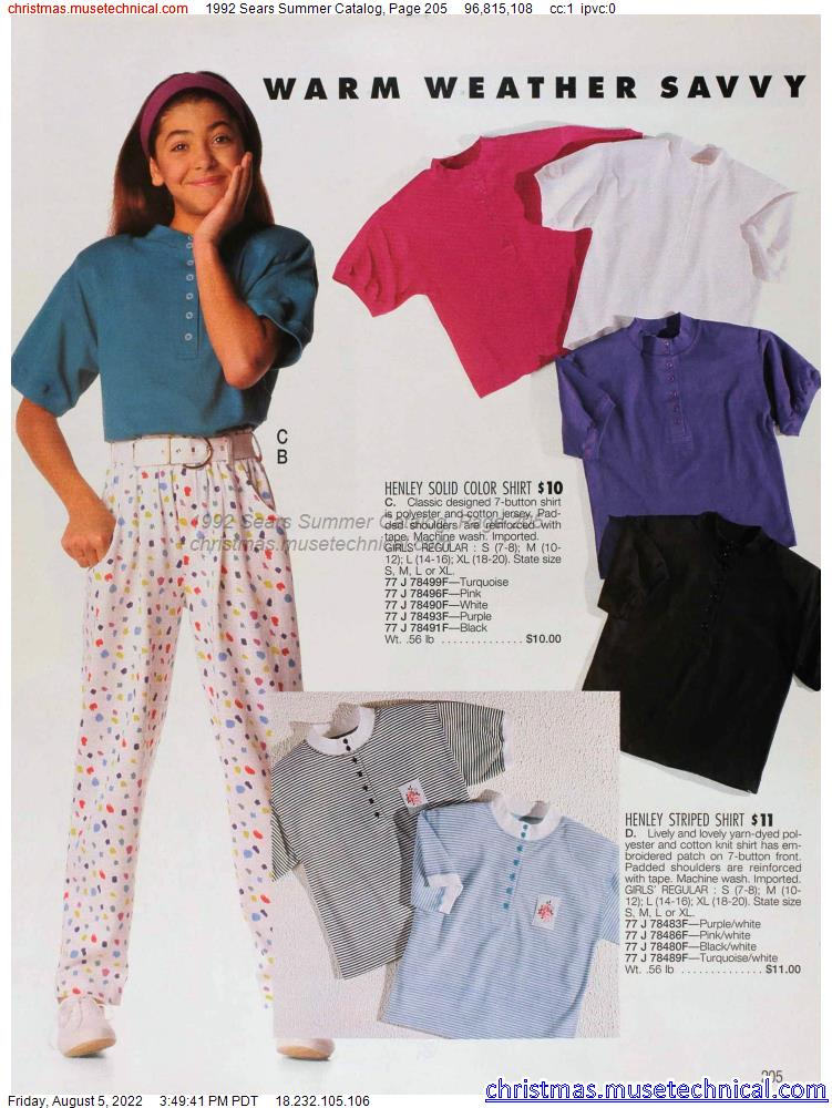 1992 Sears Summer Catalog, Page 205