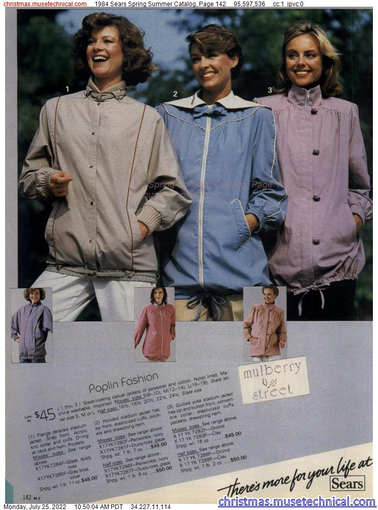 1984 Sears Spring Summer Catalog, Page 142