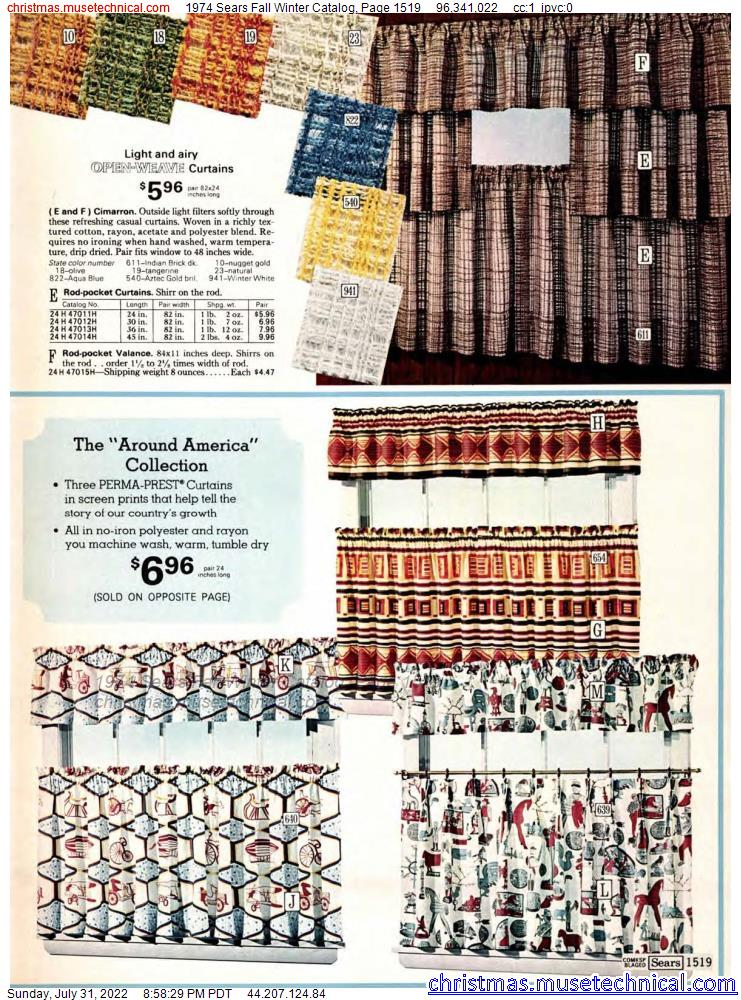 1974 Sears Fall Winter Catalog, Page 1519