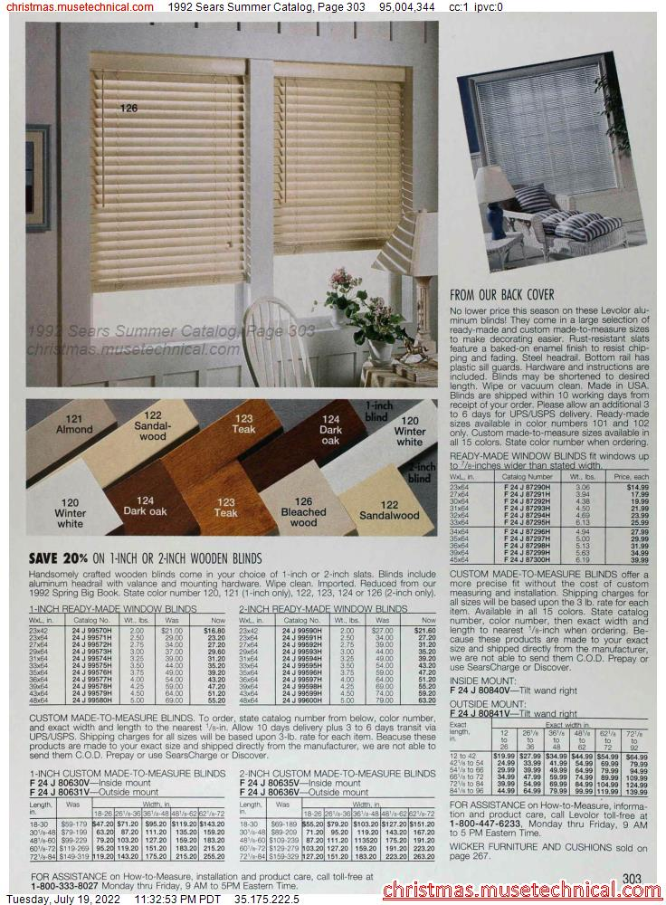 1992 Sears Summer Catalog, Page 303