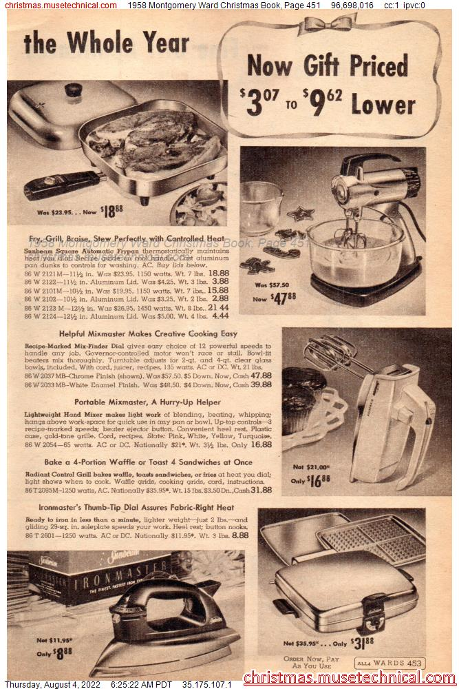 1958 Montgomery Ward Christmas Book, Page 451