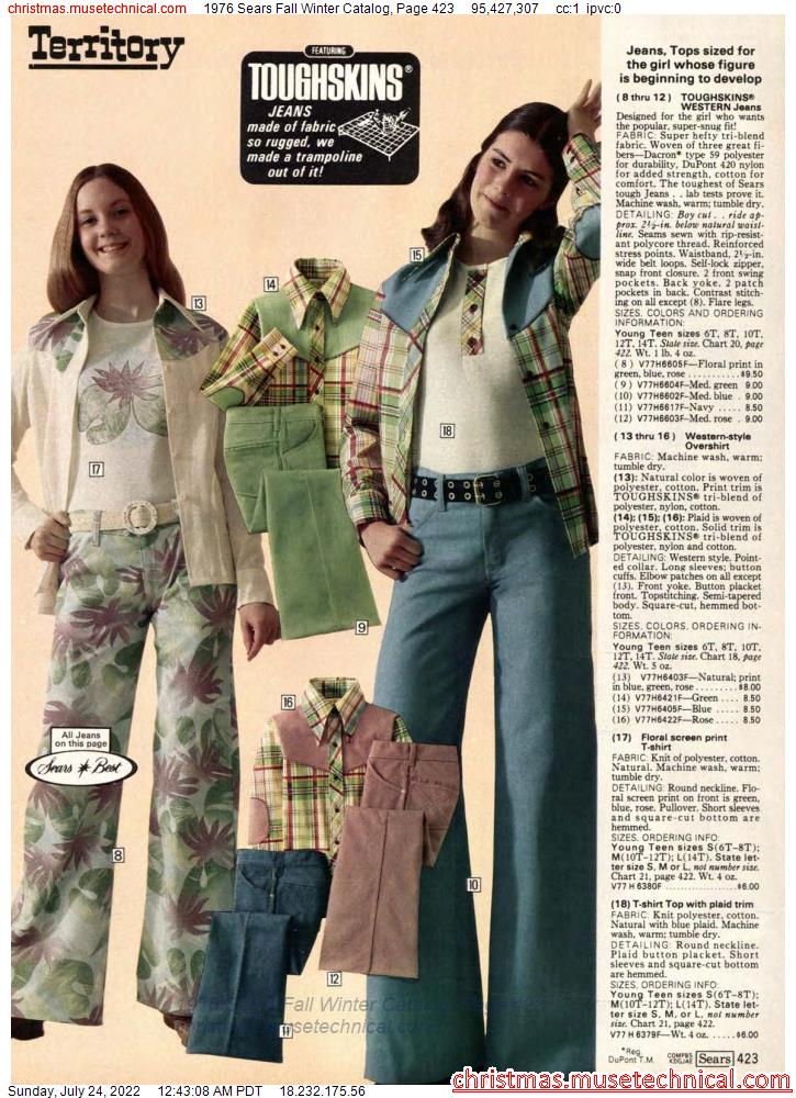 1976 Sears Fall Winter Catalog, Page 423