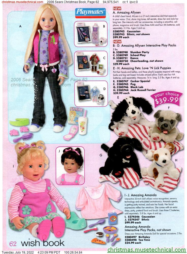 2006 Sears Christmas Book, Page 62